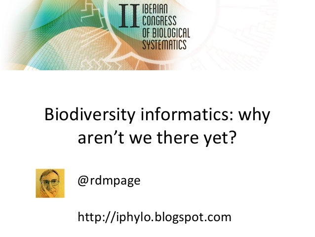 Biodiversity informatics: why aren't we there yet? @rdmpage http://iphylo.blogspot.com