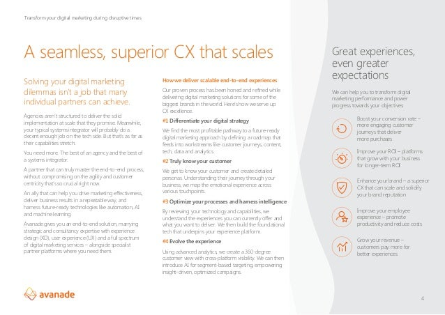 A seamless, superior CX that scales Solving your digital marketing dilemmas isn't a job that many individual partners can ...
