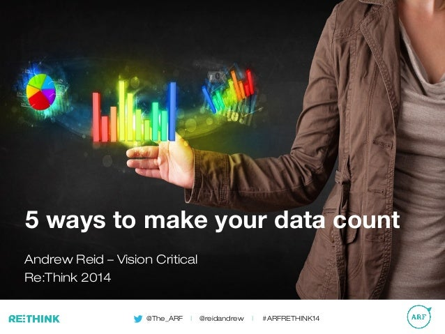 @The_ARF | @reidandrew | #ARFRETHINK14 5 ways to make your data count Andrew Reid – Vision Critical Re:Think 2014