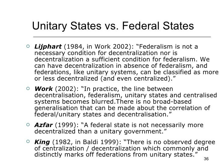 centralization vs decentralization america federalism most Fiscal decentralization in developing and transition economies  on straw me n of centralization vs decentraliza  union and latin america.