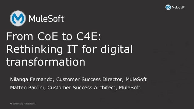 All contents © MuleSoft Inc. Nilanga Fernando, Customer Success Director, MuleSoft Matteo Parrini, Customer Success Archit...