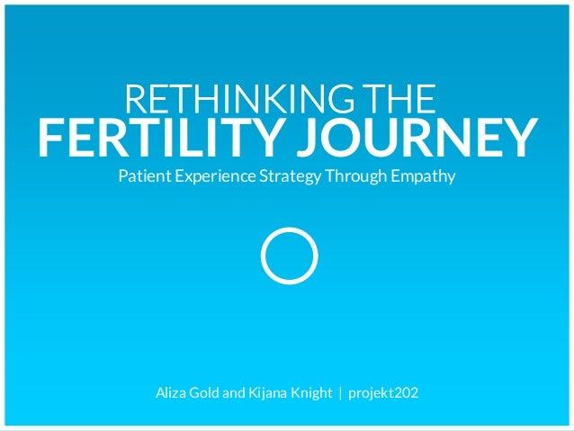 RETHINKING THEFERTILITY JOURNEY  Patient Experience Strategy Through Empathy      Aliza Gold and Kijana Knight   projekt202