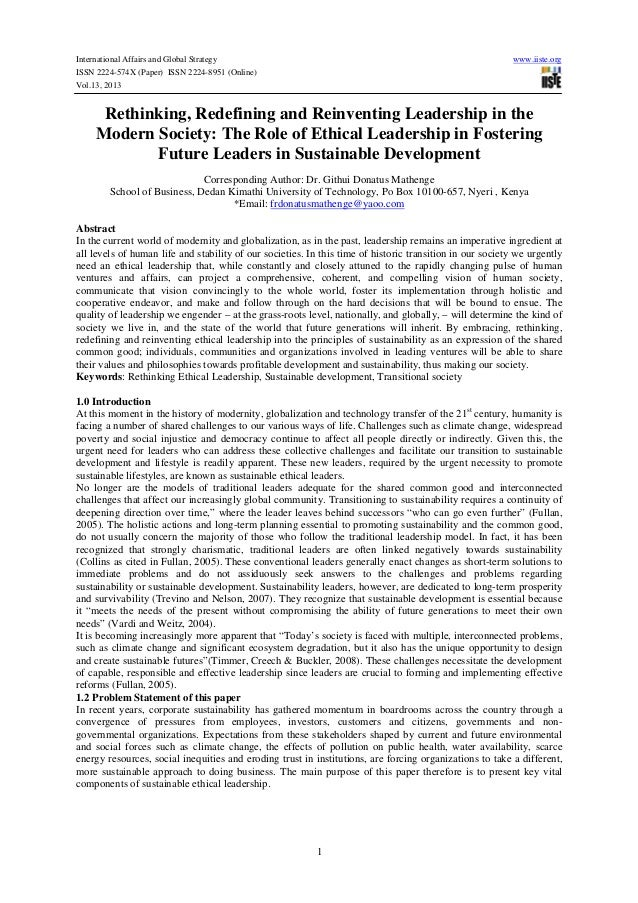International Affairs and Global Strategy www.iiste.org ISSN 2224-574X (Paper) ISSN 2224-8951 (Online) Vol.13, 2013 1 Reth...