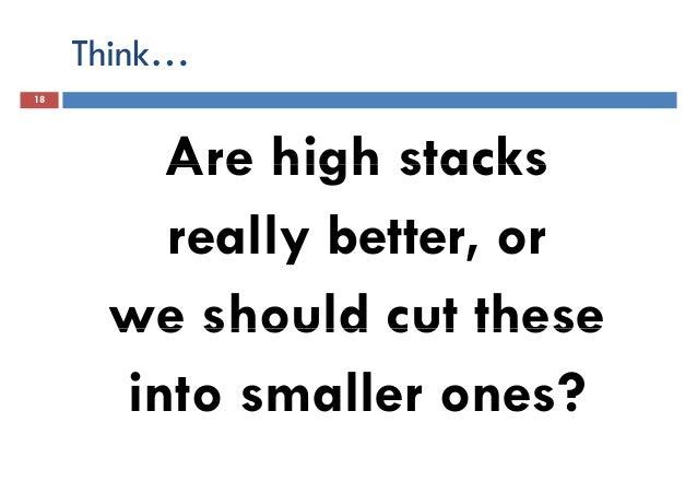 Rethinking stack height
