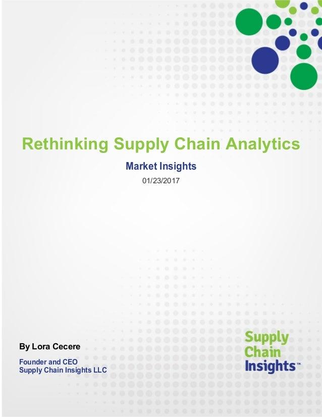 Rethinking Supply Chain Analytics - report - 23 JAN 2018