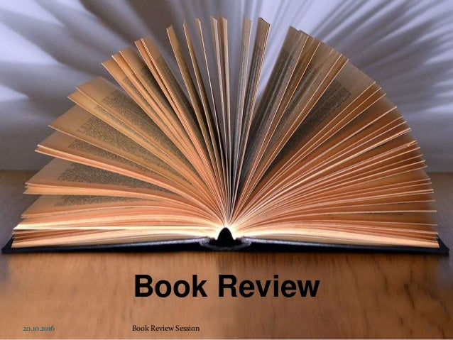 Book Review 20.10.2016 1Book Review Session