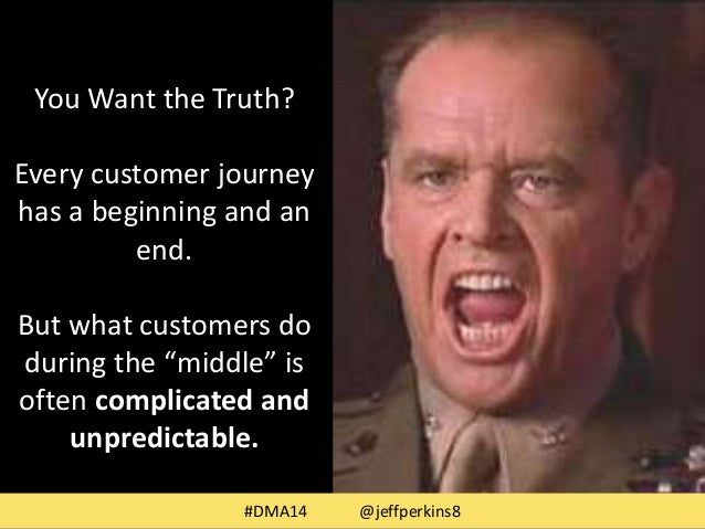 """You Want the Truth?  Every customer journey  has a beginning and an  end.  But what customers do  during the """"middle"""" is  ..."""