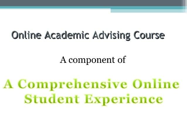 Online Academic Advising Course