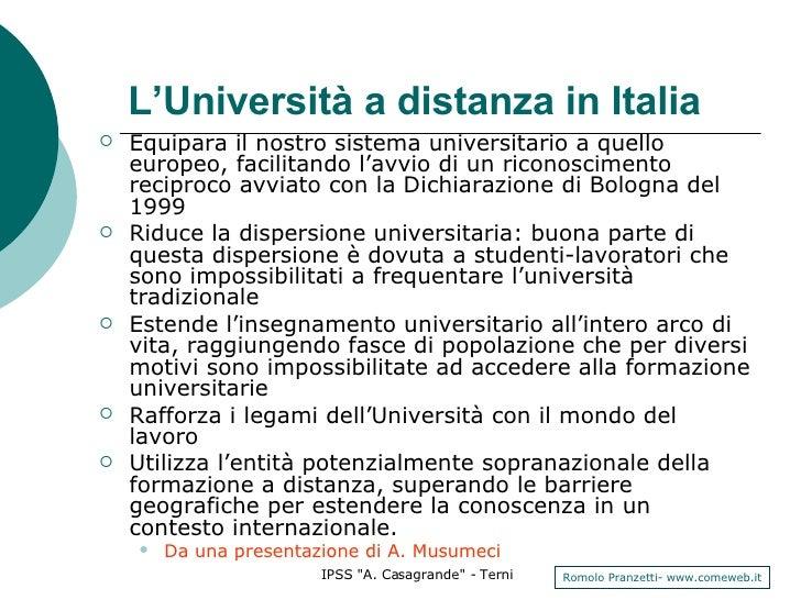 <ul><li>Equipara il nostro sistema universitario a quello europeo, facilitando l'avvio di un riconoscimento reciproco avvi...