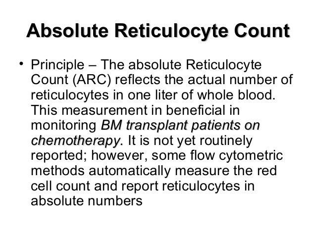 reticulocyte count, Skeleton