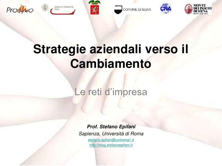 Prof. Stefano Epifani<br />Sapienza, Università di Roma<br />stefano.epifani@uniroma1.it<br />http://blog.stefanoepifani.i...