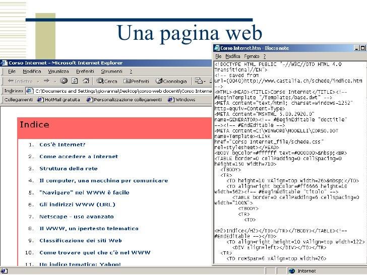 Una pagina web