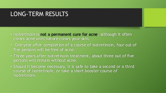 Accutane Long Term Side Effects Depression