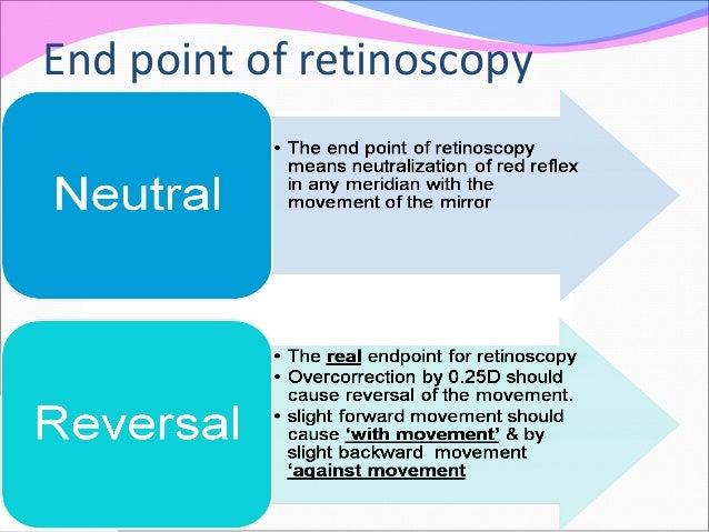 End point of retinoscopy