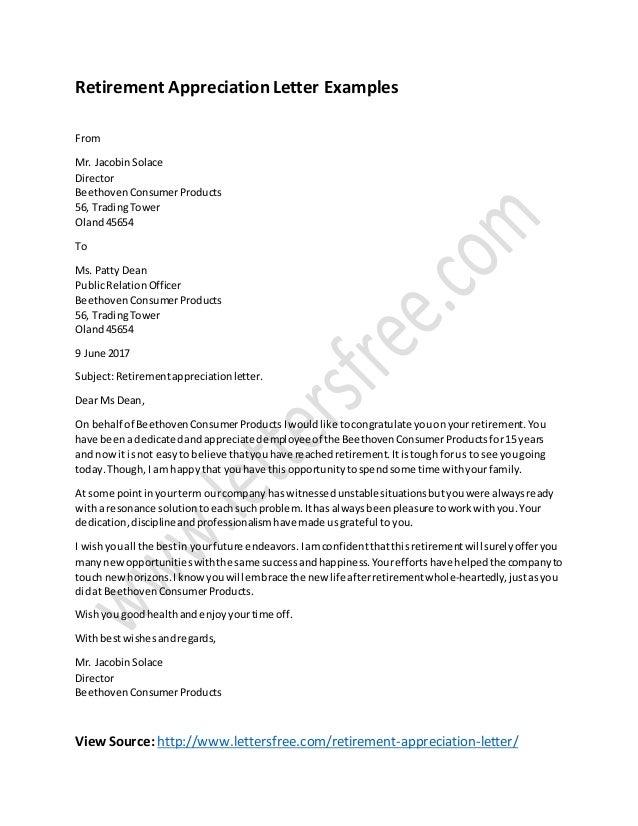 Congratulation On Retirement Letter from image.slidesharecdn.com