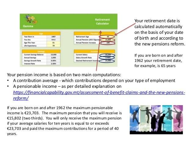 Retirement Calculator - Explanation