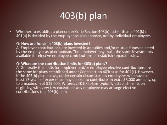 Retirement Plan Basics: What is a 403(b) plan?