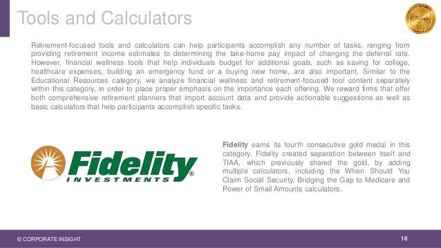 Tools and Calculators 10 Retirement-focused tools and calculators can help participants accomplish any number of tasks, ra...