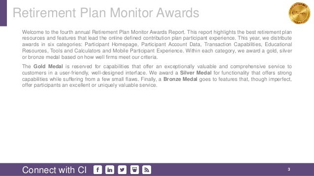 2016 monitor awards gold winners retirement