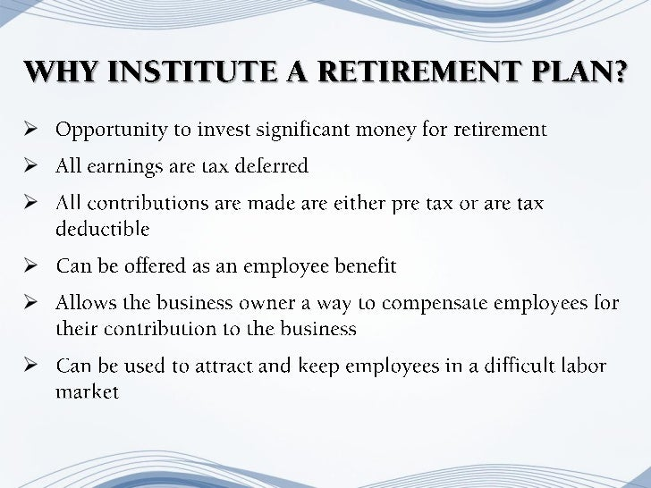 retirement plan for small business owner
