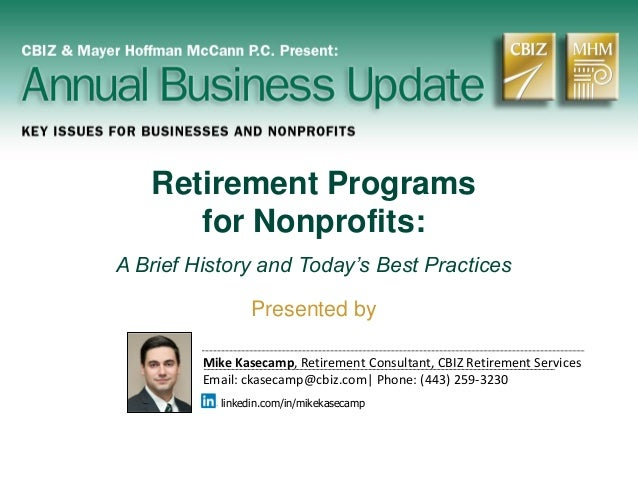 Retirement Programs For Nonprofits: