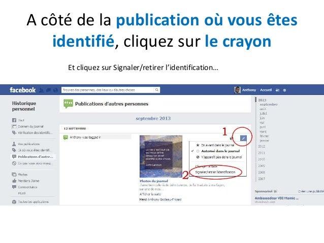 Retirer Une Identification Facebook Dun Commentaire Ou D