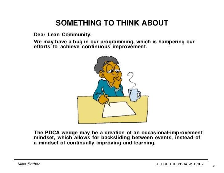 Retire the PDCA wedge Slide 2