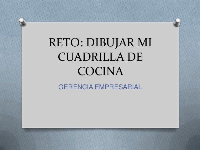 RETO: DIBUJAR MI CUADRILLA DE COCINA GERENCIA EMPRESARIAL