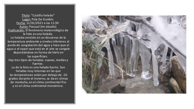 Título: la capa blanca que cubrió Villamanín. Fenómeno: la nieve. Lugar: Meson Ezequiel, Villamanin. Fecha: aproximadament...