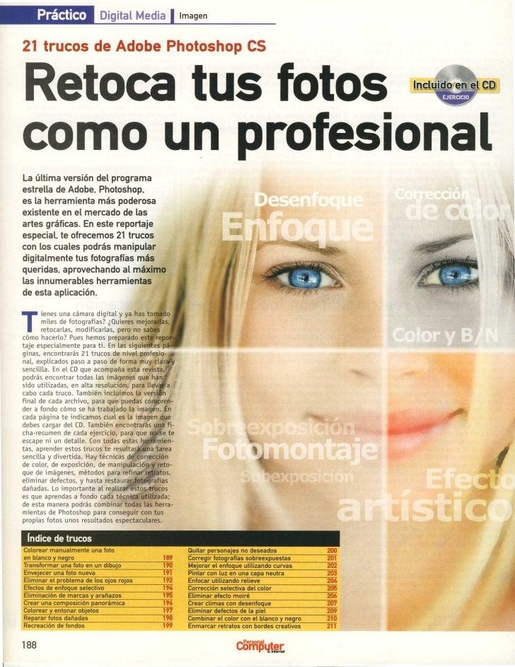 Práctico            Digital Media                image n21 trucos de Adobe Photoshop CSRetoca tus fotoscomo un profesiona ...