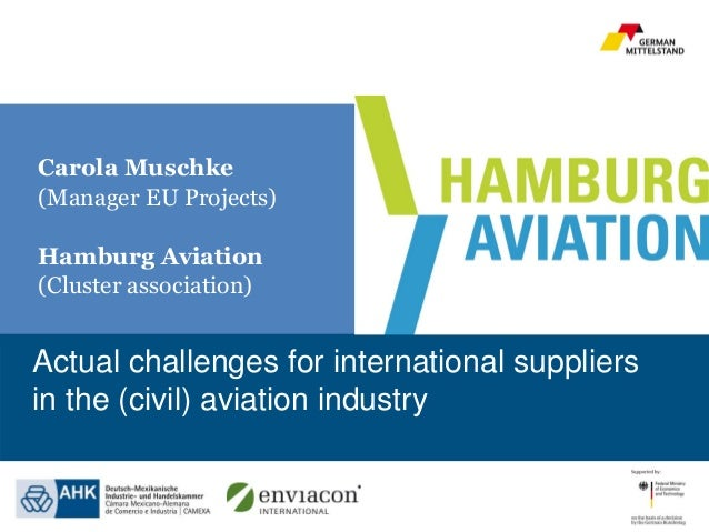 www.renewables-made-in-germany.com Actual challenges for international suppliers in the (civil) aviation industry Carola M...