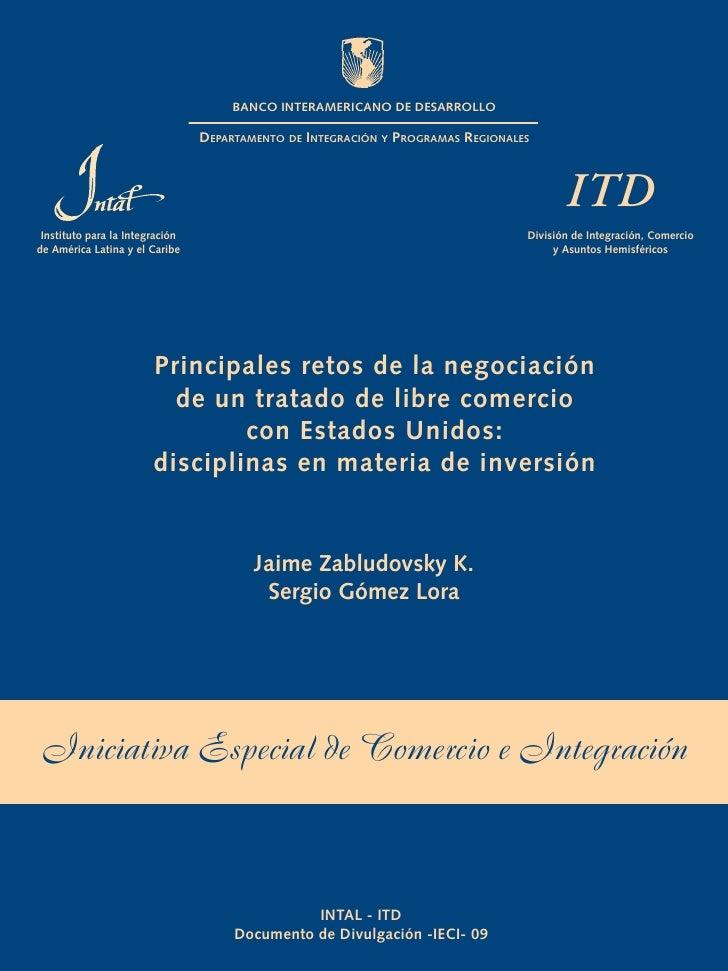 BANCO INTERAMERICANO DE DESARROLLO                                   DEPARTAMENTO DE INTEGRACIÓN Y PROGRAMAS REGIONALES   ...