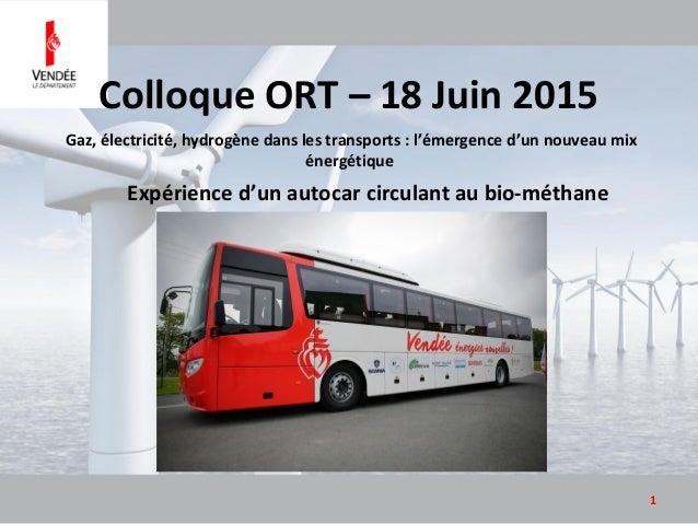 Gaz, électricité, hydrogène dans les transports : l'émergence d'un nouveau mix énergétique 1 Expérience d'un autocar circu...