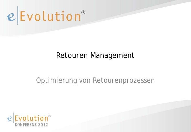Retouren ManagementOptimierung von Retourenprozessen