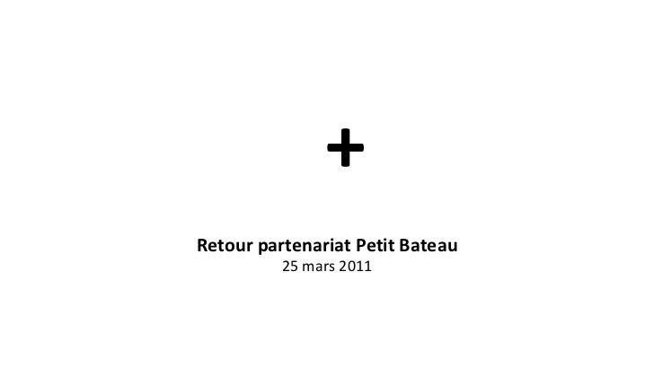 Retour partenariat Petit Bateau 25 mars 2011 +