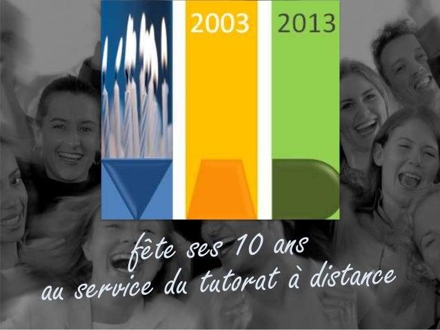 Retour sur les 10 ans de t@d, Jacques Rodet 8 octobre 2013 De la communauté de pratique au web social Une cinquantaine d'e...