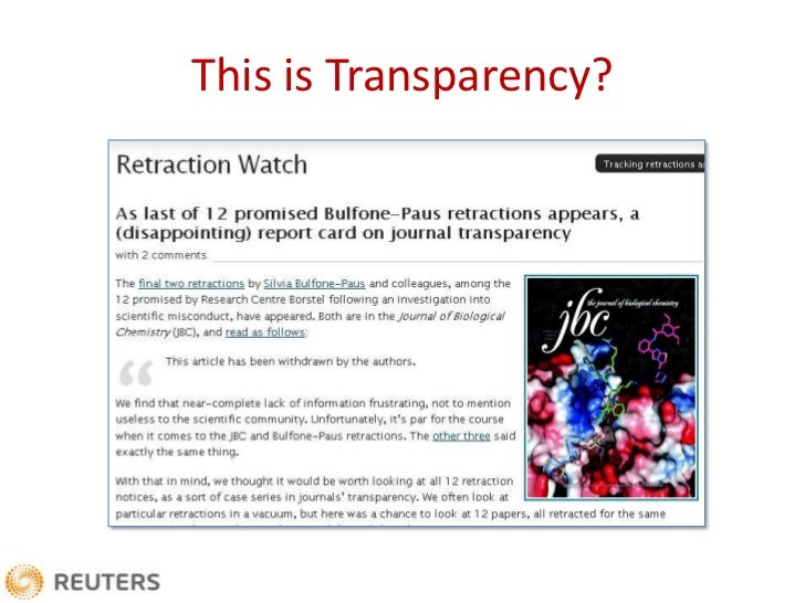 The Good, the Bad and the Ugly: What Retractions Tell Us