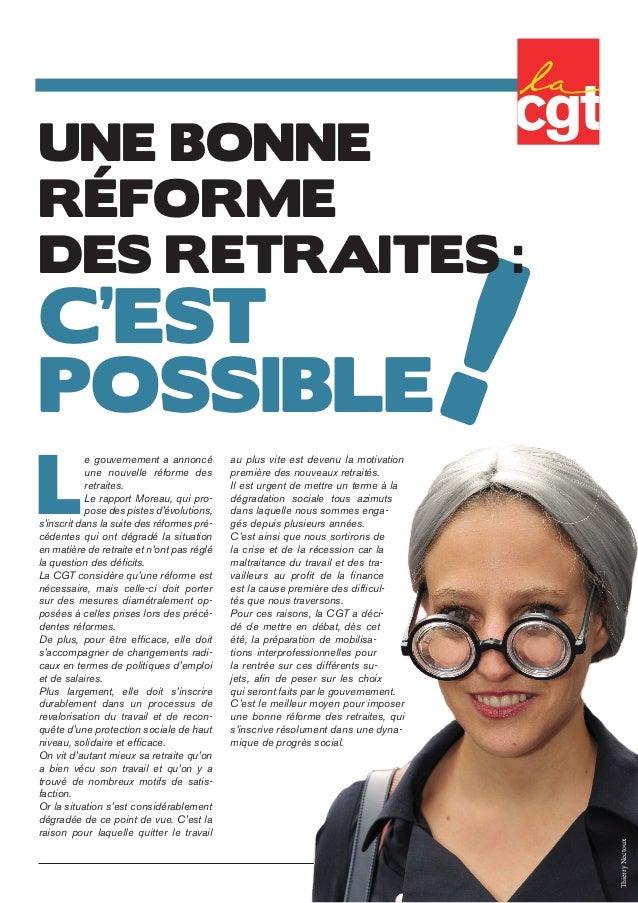 ! Une bonne réforme des retraites: c'est possible L e gouvernement a annoncé une nouvelle réforme des retraites. Le rappo...
