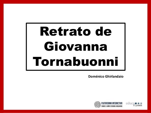 Retrato de Giovanna Tornabuonni Doménico Ghirlandaio