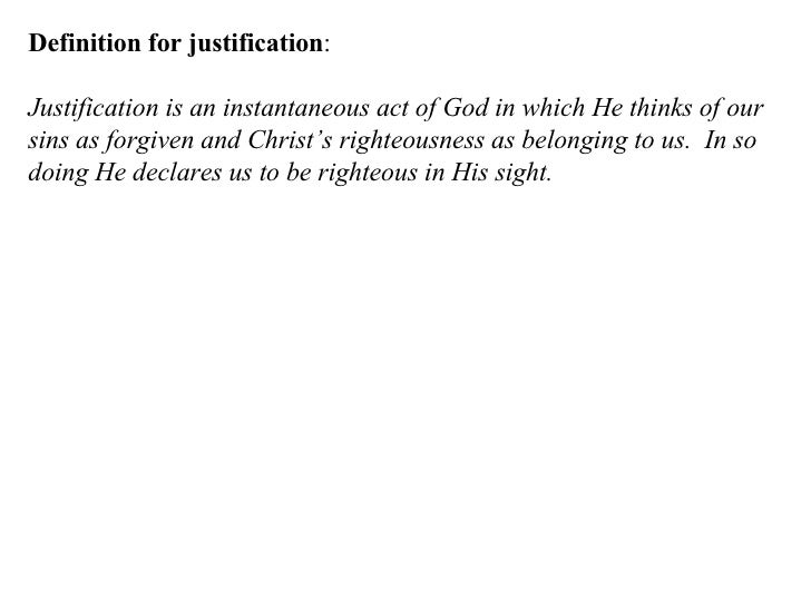 Justification Definition