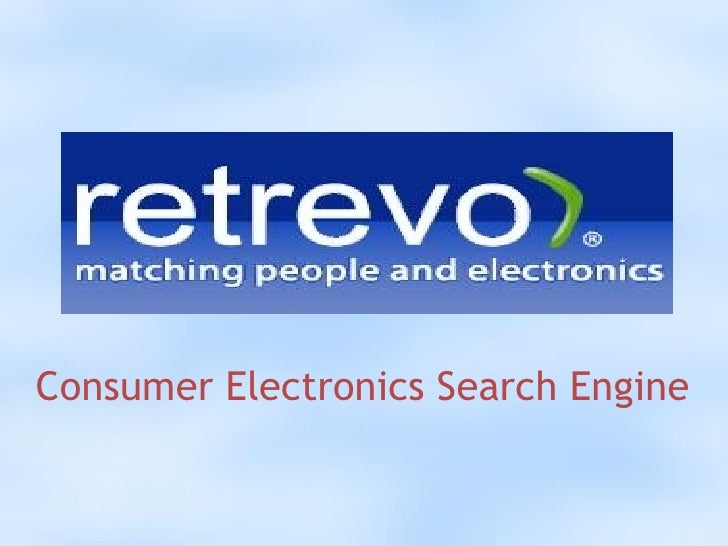 Consumer Electronics Search Engine