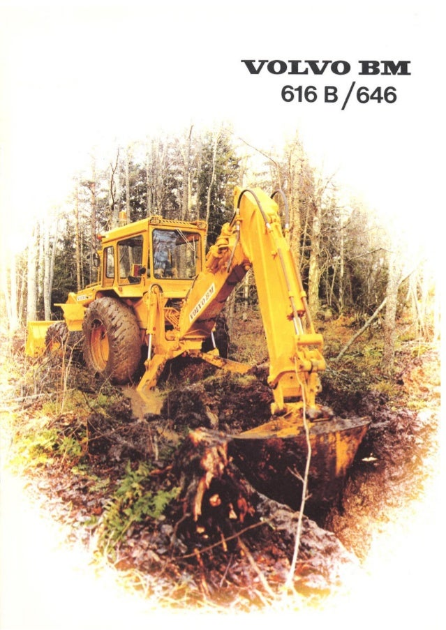 Retro escavadeira volvo bm 616-646
