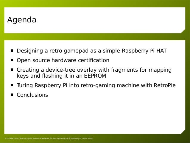 Making Open Source Hardware for Retrogaming on Raspberry Pi