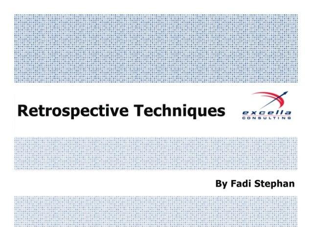 The State of Retrospectives                  @FadiStephan #AgileDC