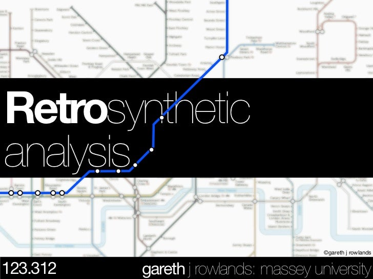 .Retrosynthetic.analysis                                      ©gareth j rowlands123.312   gareth j rowlands: massey univer...