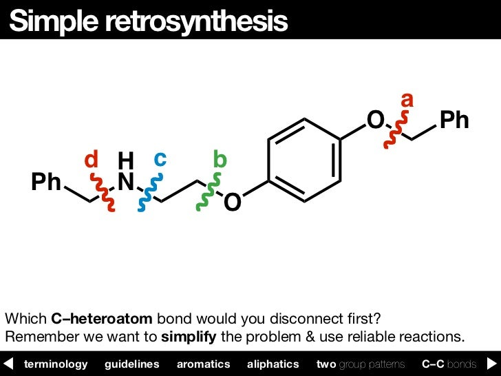 principles of retrosynthesis