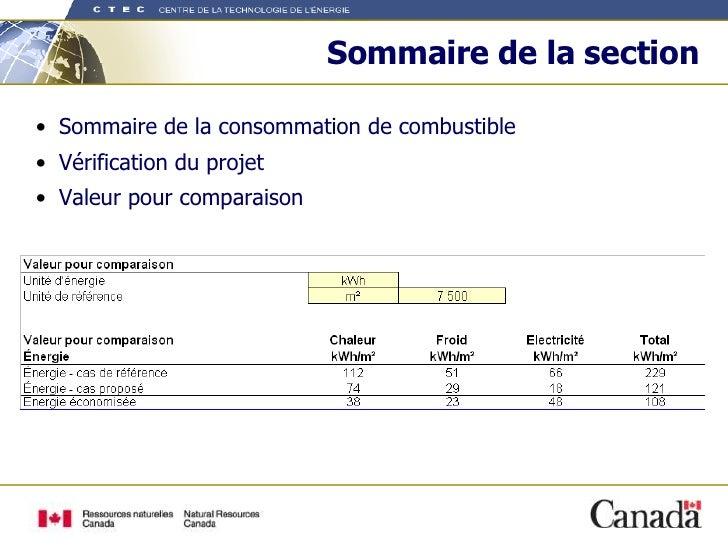 Sommaire de la section <ul><li>Sommaire de la consommation de combustible </li></ul><ul><li>Vérification du projet  </li><...