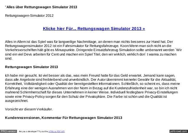 """Alles über Rettungswagen Simulator 2013  Rettungswagen-Simulator 2012                                       Klicke hier F..."