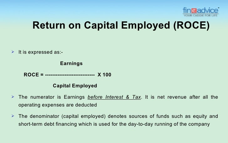 return on capital employed. Black Bedroom Furniture Sets. Home Design Ideas