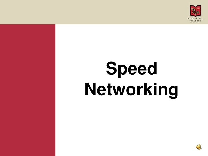 Speed Networking<br />